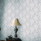 Lace White Chocolate Peel And Stick Wallpaper