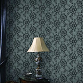 Lace Smokey Black Peel And Stick Wallpaper