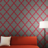 Marrakesh Ruby Slate Peel And Stick Wallpaper