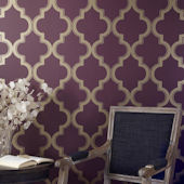 Marrakesh Merlot Peel And Stick Wallpaper