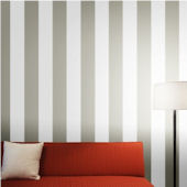 Stripe Dove Grey Peel And Stick Wallpaper