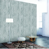 Woodgrain Textured Pewter Peel And Stick Wallpaper