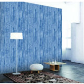 Woodgrain Textured Indigo Peel And Stick Wallpaper