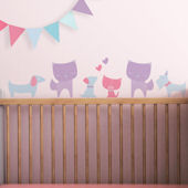Cats And Dogs Fabric Peel And Stick Wall Decals