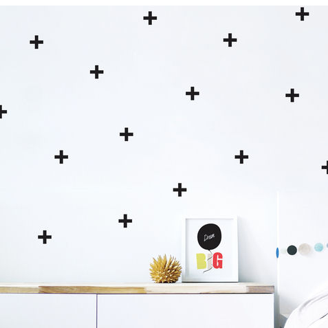 Cross Fabric Peel And Stick Wall Decals