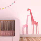 Giraffes Fabric Peel And Stick Wall Decals