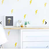 Lightening Bolt Fabric Peel And Stick Wall Decals