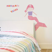 Mermaid Fabric Peel And Stick Wall Decals