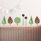Minni Trees Fabric Peel And Stick Wall Decals