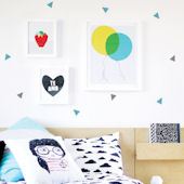 Minni Triangles Fabric Peel And Stick Wall Decals