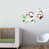 Monkeys Fabric Peel And Stick Wall Decals