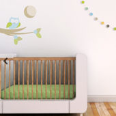Moonlight Owl Fabric Peel And Stick Wall Decals