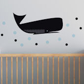 Whale Fabric Peel And Stick Wall Decals