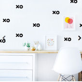 XOXO Fabric Peel And Stick Wall Decals