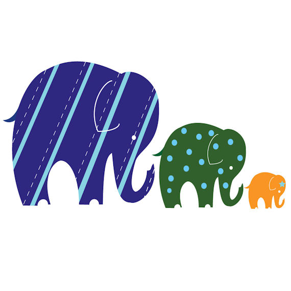 elephant trio traceable wall mural kids wall decor store