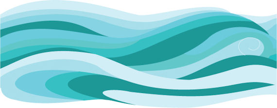 Royalty Free Ocean Wave Design Collage Logo by Vector Tradition SM ...