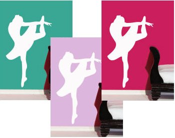 Traceable Ballerina Wall Mural
