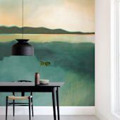 Minted Tranquil Harbor Repositionable Wall Mural