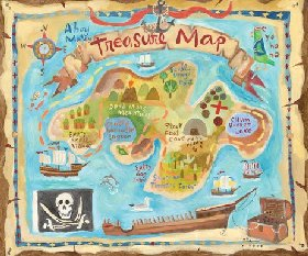Treasure Map Wall Decor
