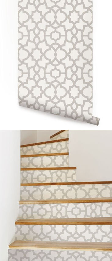 Trellis Light Gray Peel And Stick Wallpaper