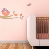 Bird Nest Fabric Decals Violet