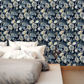 Tropical Fete Azure Blue Peel And Stick Wallpaper