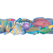 Tropical Fish Die-Cut Border