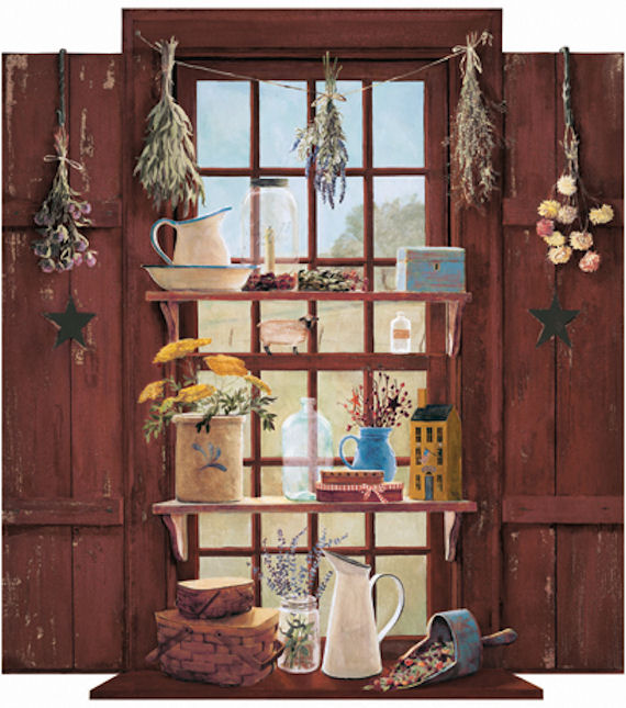 Country Things Window Wall Mural