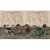 Primitive Scenic Prepasted Wall Mural