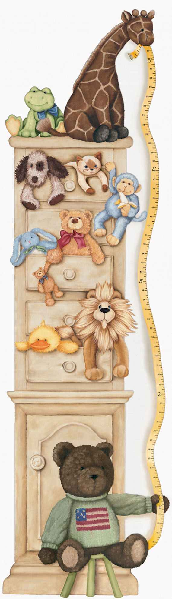 Growing  with Toy Friends Art Accents Growth Chart - Wall Sticker Outlet