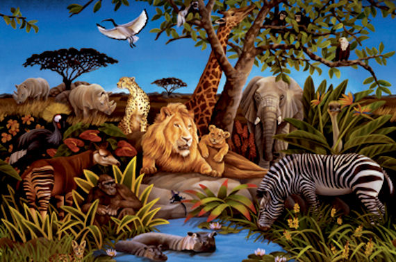 Jungle Prepasted Wall Mural - Wall Sticker Outlet