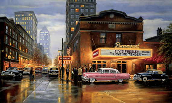 Evening At The Paramount Mural - Wall Sticker Outlet