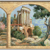 Tuscan Hills Stone Arches Minute Mural