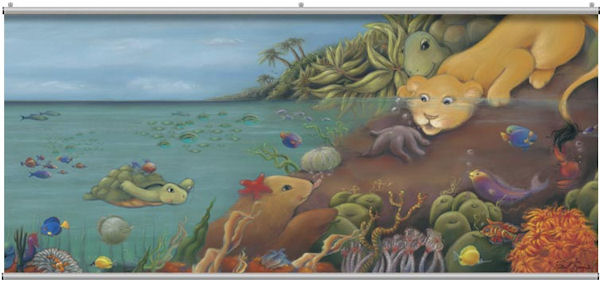 Undersea Minute Mural - Wall Sticker Outlet
