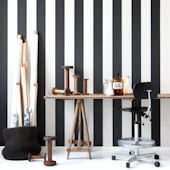 Ferm Living Vertigo Black and White Wallpaper