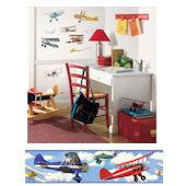 Vintage Airplanes Decal Room Package #1
