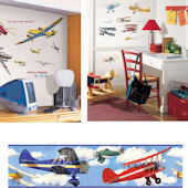 Vintage Airplanes Complete Room Package