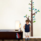 Growth Chart Tree with Birds Decals