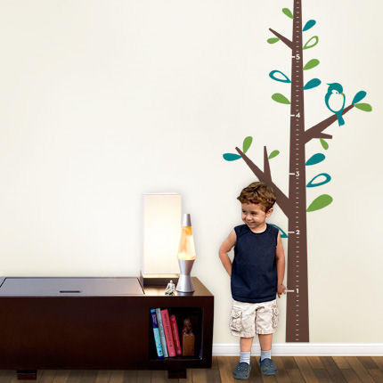 Growth Chart Tree with Birds Decals - Wall Sticker Outlet