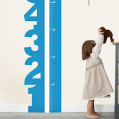 Growth Chart Numbers Wall Decal
