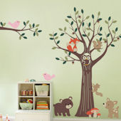 Tree with Forest Friends Decals