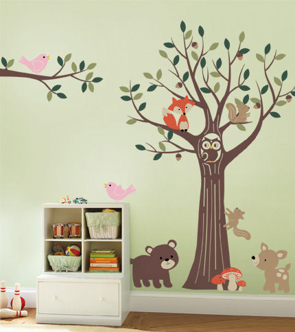 Tree with Forest Friends Decals - Wall Sticker Outlet
