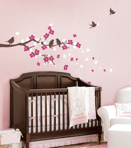 Cherry Blossom Branch with Birds Decals - Wall Sticker Outlet