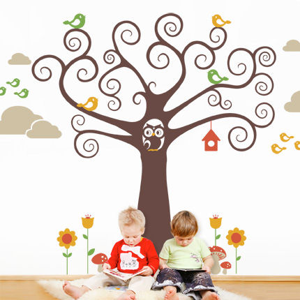 WonderlandTree with Birds Decals - Wall Sticker Outlet