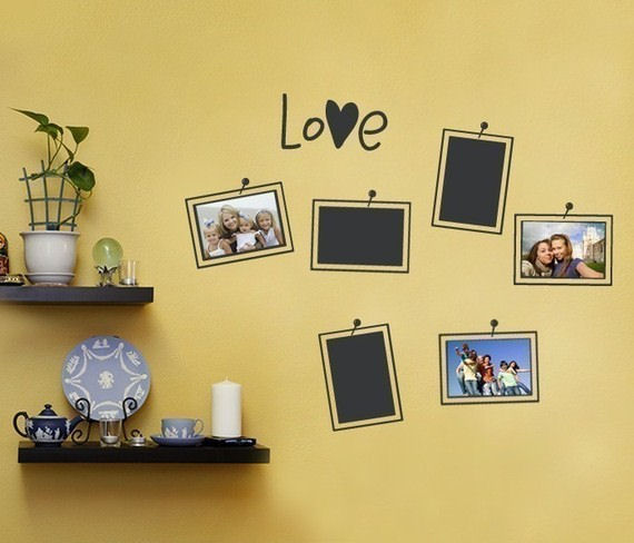 Photo Love Wall Decal - Photo Frames - Wall Sticker Outlet