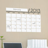 Dry Erase Calendar - 2013 Wall Decal