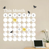 Dry Erase Daily Dot Calendar Wall Decal
