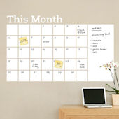 Dry Erase Calendar with Memo Wall Decal