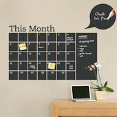 Chalkboard Calendar with Memo Wall Decal