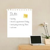 Dry Erase Wall Memo Decal